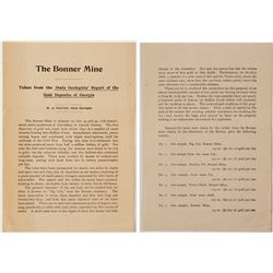 Bonner Mine Report by W. S. Yeates  (57074)