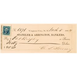 Territorial Comstock Check Issued to Namesake of Brophy Mine  (113552)