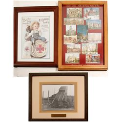 Mining Photo (Framed) and Flour Ad. (Framed)  (86838)