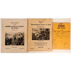 Utah Mineral Publications (3)  (108208)
