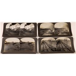 Iron & Coal Mining Stereoviews Set of Four  (118735)