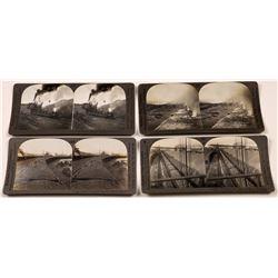 Iron & Coal Mining Stereoviews Set of Four  (118735)