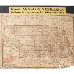 Nebraska Railroads Map  (59630)