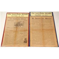 Arizona, The Snowflake Herald Newspaper Articles  (2)  (62073)