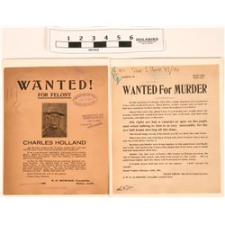 Wanted Posters - One for Murder! (2)  (120651)