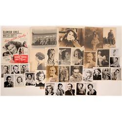 Hollywood Ephemera Collection: Vintage Prints and Pinbacks  (113234)