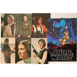Star Wars Large Glossy Photograph Prints and Poster 1977 (Lot of 7)  (110373)