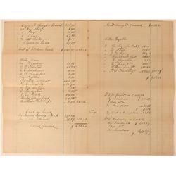 Pearson Springs Ledger Sheet  (113589)