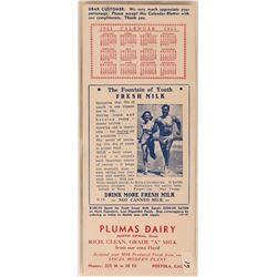Portola  CA. Advertising Blotter  (118344)