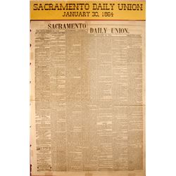 Sacramento Daily Union Newspaper Article  (58774)