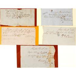 Five Manuscript Rhodes & Lusk Checks/Drafts  (56066)