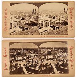 Birdseye View Stereoviews of San Francisco and Sacramento, California  (118733)