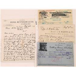 Whiskey Merchant Receipts  (124688)