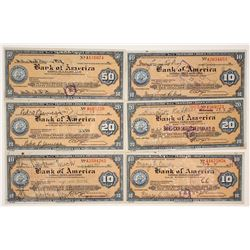 1930s Bank of America Travelers Checks  (77366)