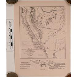 Oregon & Upper California, Gold Rush Map Print  (120696)