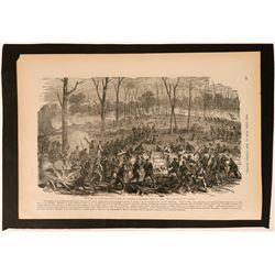 Magazine Print of Civil War Battle  (120891)