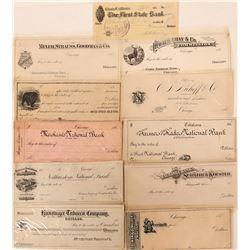 Printers' Proofs 11 Bank Checks  (118079)