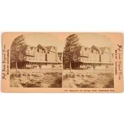 Mammoth Hot Springs Hotel, Yellowstone Park  Stereoview  (118732)