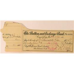Bullion & Exchange Bank Check to Ghirardelli Chocolate Company  (113582)