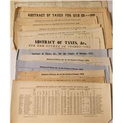 Otsego NY Abstract of Taxes 1840-1864 Assortment  (54328)