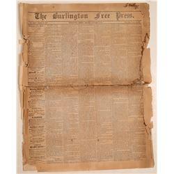 Burlington Free Press 1/9/1852  (108631)