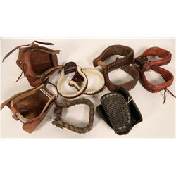 Leather-wrapped stirrups (3 pr) and Leather Stirrup Covers  (109799)
