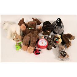 Stuffed Plush Animals, Assorted   (119623)