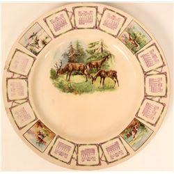 Souvenir Plate, Deer  (115363)