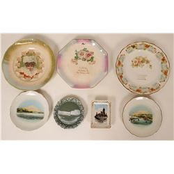 Souvenir Plate Collection from San Francisco Area (7)  (115349)