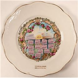 Souvenir Advertising and Calendar Plate (1) RARE  (112627)