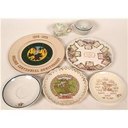 San Joaquin & Central Valley Souvenir Plates & Cups  (116050)