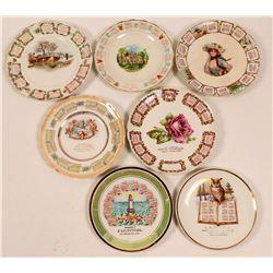 California Souvenir Advertising and Calendar Plates, Bay Area (7)  (112625)