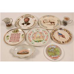 Illinois Souvenir Calendar Plate Collection,  (9)  (112690)