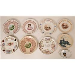 Nebraska Souvenir Plate Collection (9)  (115350)
