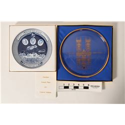Commemorative Plates - Apollo 13 and Westminster Cathedral  (110791)