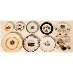 Souvenir Plate & Dish Collection, Foreign (18)  (115355)