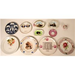 Souvenir Plate & Dish Collection, Michigan & Wisconsin (11)  (115356)