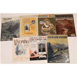 Art of Sheet Music Collection: Rocky Mountains  (124695)