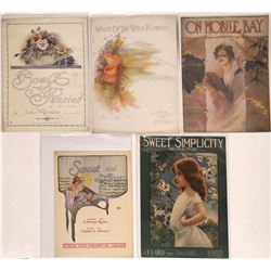 Art of Sheet Music Collection: Women Artists and Wildflowers  (124669)