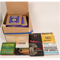 Box of Reel to Reel Tapes  (120865)
