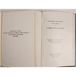 AIME Centennial and Daniel Cowan Jackling Statue Books  (86253)