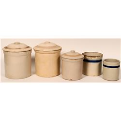 Crock Canisters (Set of 5)  (120866)
