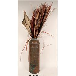 Decorative Copper Fire Extinguisher  (122739)