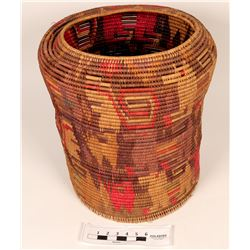Figural Polychrome Basket  (122735)
