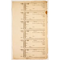 Old Checks from 1800's (Blank)  (78322)
