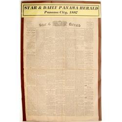 Star & Daily Panama Herald Newspaper 1887  (63115)