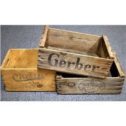 Wood Boxes, Vintage (3)  (122259)