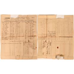 1827 List of Infantry Officers Above Captain, signed by Brig. General William Hammond  (117042)