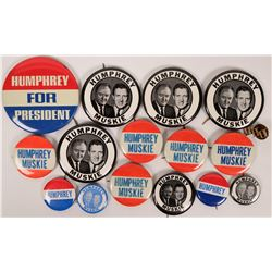 Humphrey-Muskie Campaign Buttons  (118077)