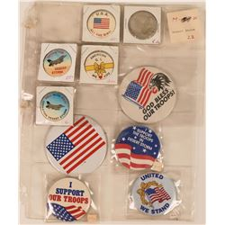 Military Support Pin Backs  (121760)